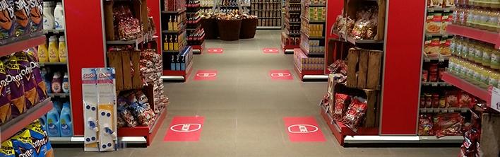 Interieurdecoratie Retail Trends Beleving akoestische panelen vloerdecoratie instore signing