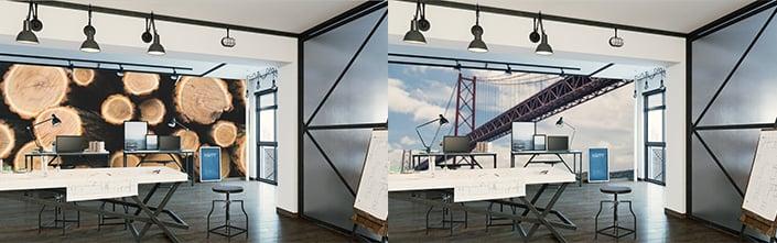 Fotowanden en muurdecoratie kantoor