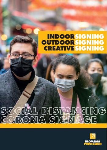 Social distancing vloerstickers en signing