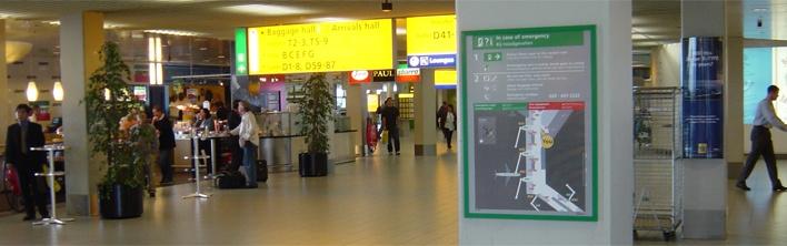 Ontruimingsplattegrond Schiphol door Blomsma Signs & Safety