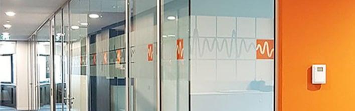 Inspiratie kantoor interieur aankleding privacyfolie